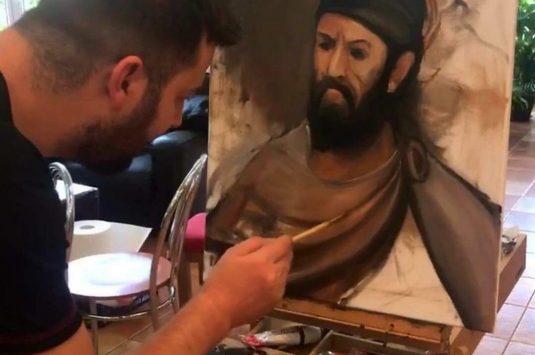 Demonstraţii și workshop de pictură în stilul Rembrandt la Drăgășani